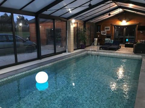 Belle propriété 1h de paris avec piscine chauffée
