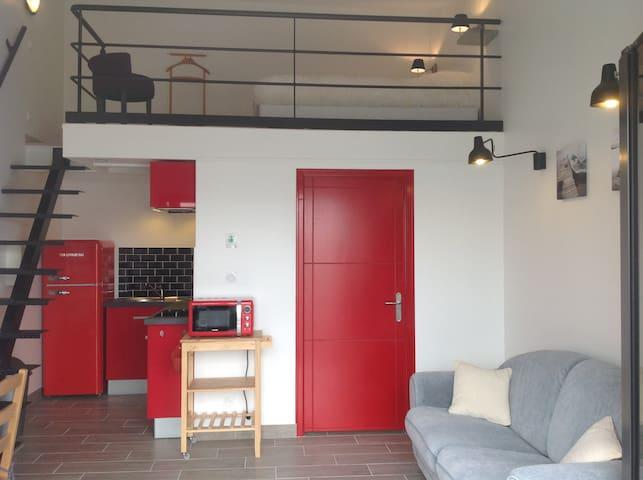 Studio neuf  22m2 + mezzanine 9m2 - Salles-sur-Mer - Osakehuoneisto