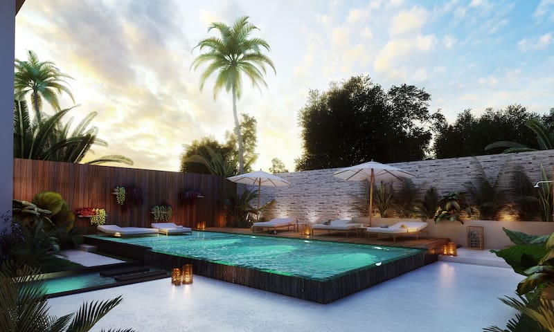 Luxury new penthouse with rooftop/jacuzzi in Tulum - Tulum - Condominio