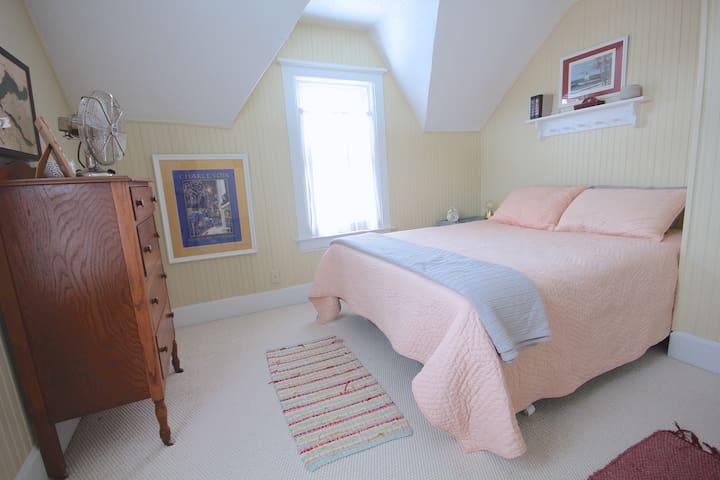 Bedroom #3, a queen bed.