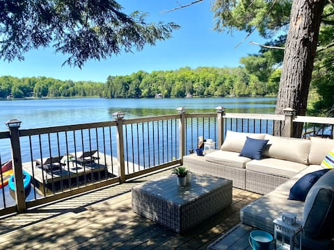 Private Waterfront Cottage w/Sandy Beach & Cabana
