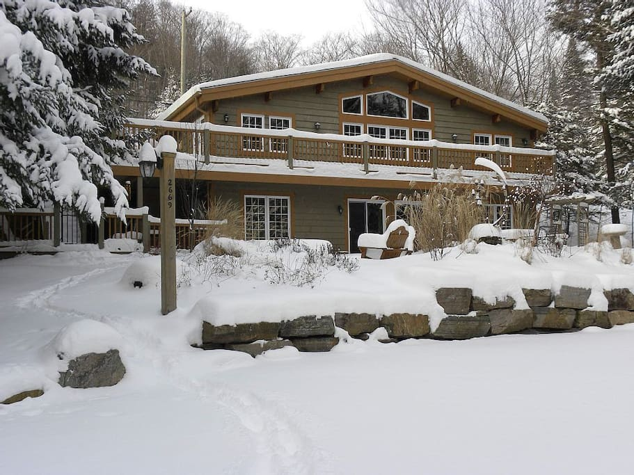 Winter scene - view from lower driveway