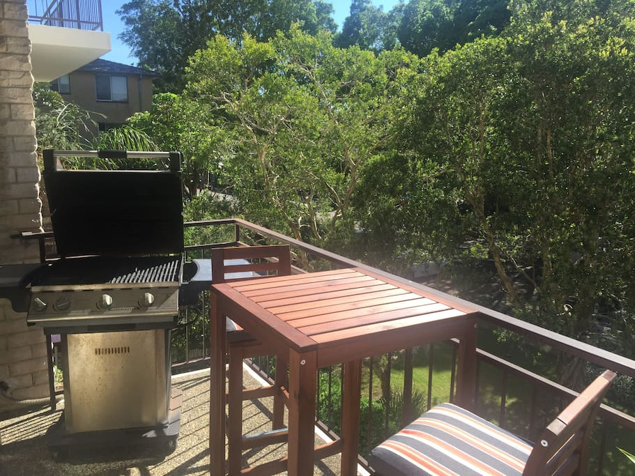 BBQ with view to garden