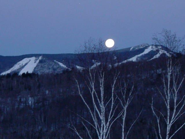 Full Moon Setting over Killington Peak