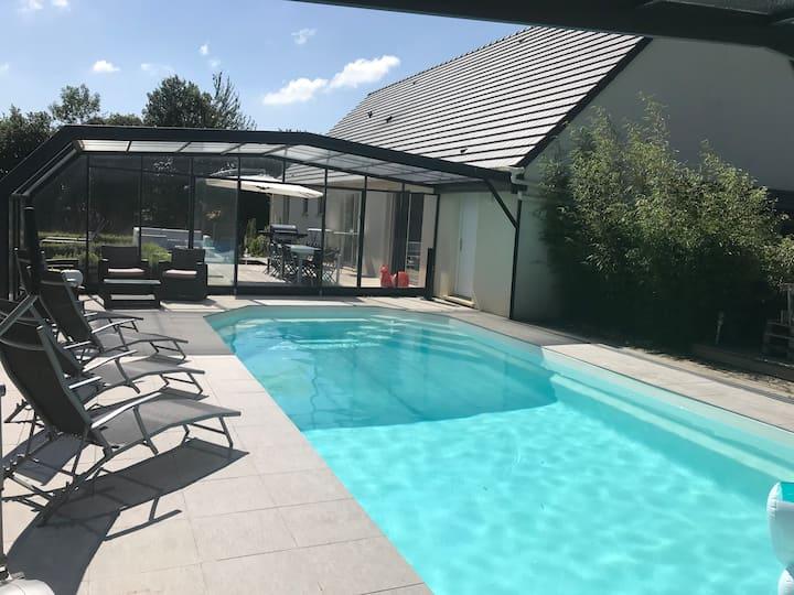 La Villa Normande avec PISCINE chauffée - 10 pers