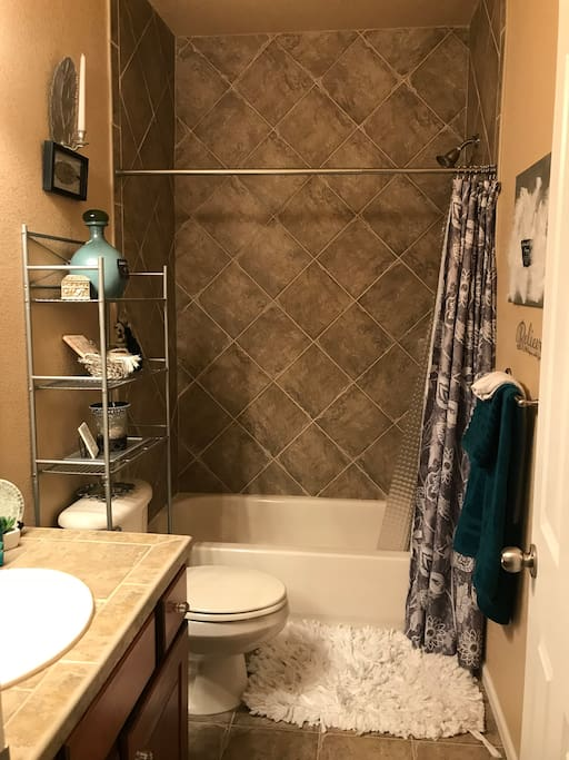 Private bathroom with bath & shower