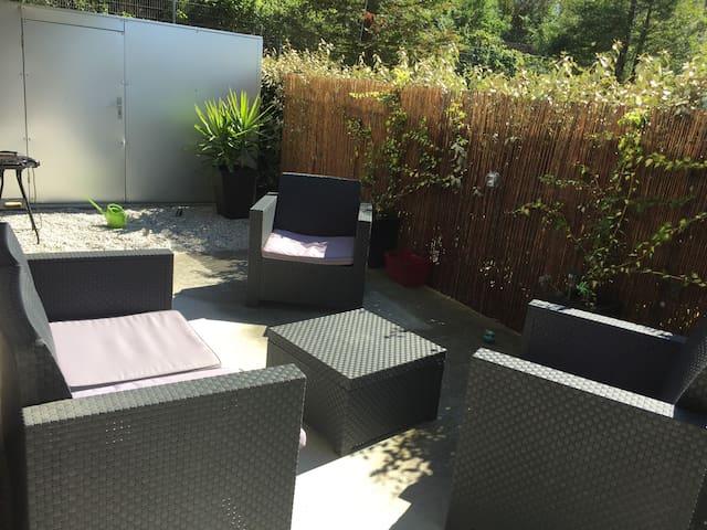 Appartement T2 40m2 moderne avec grande terrasse - Nantes - Huoneisto