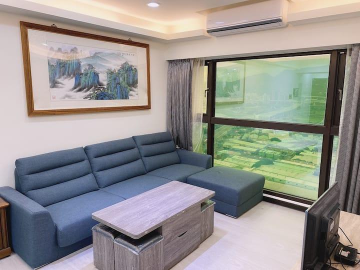 捷運宅+河景3房出租(含裝潢家具),月租只要33000元