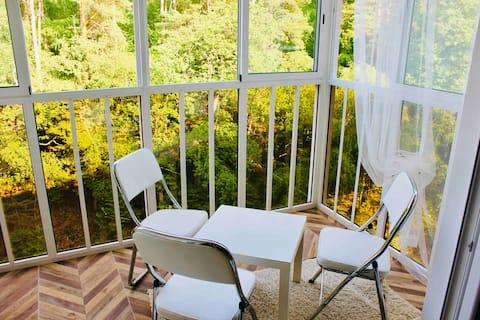Сдается уютная квартира с видом на лес!