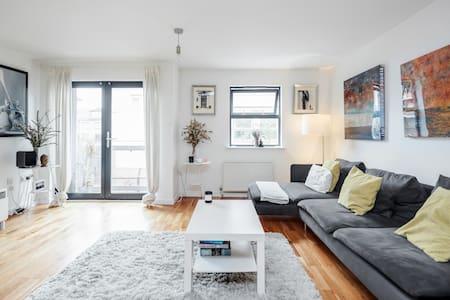A  bright modern flat in Shoreditch,central London