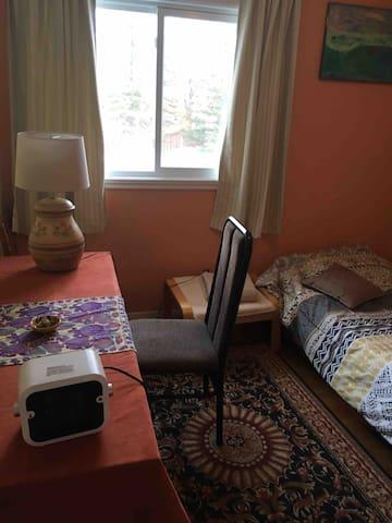 cozy room near river