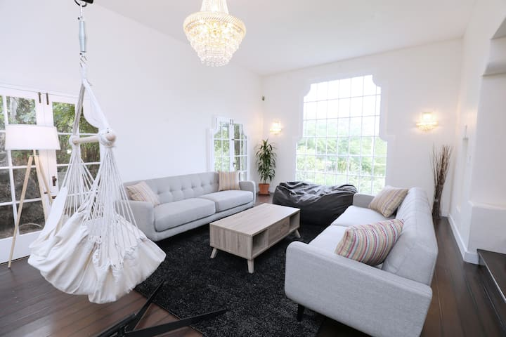 The thoughtfully designed living room will give you the best experience in Santa Monica.
