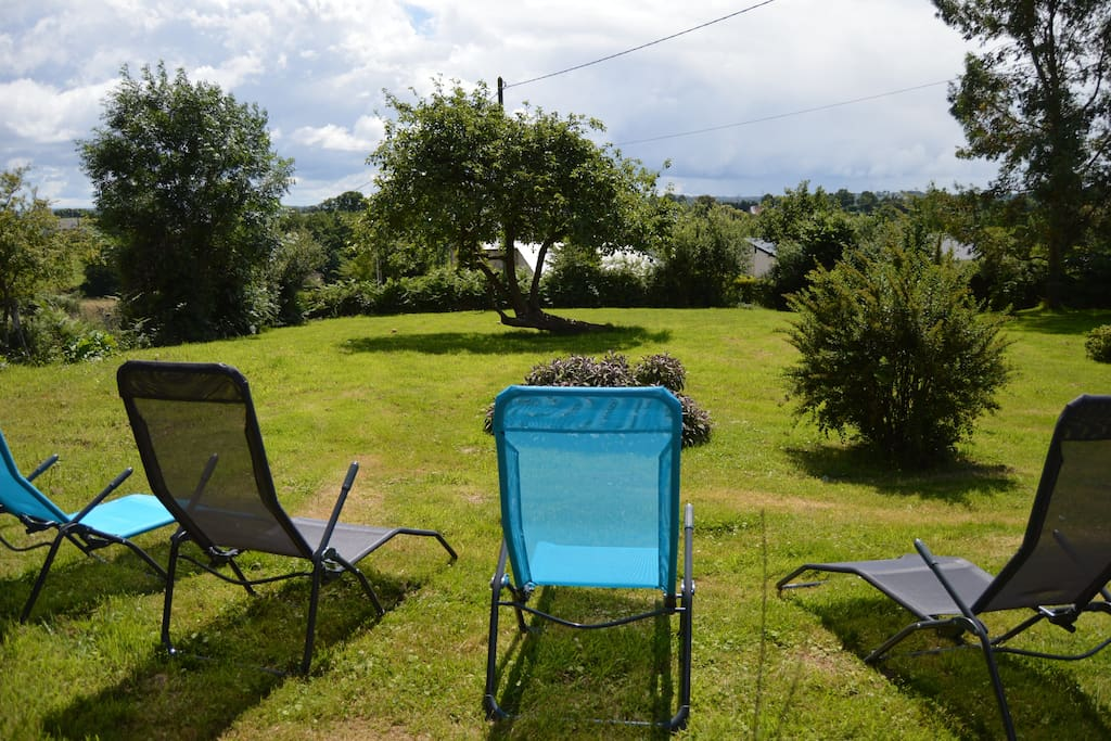 You have full use of the front garden,sun loungers,table and chairs and BBQ