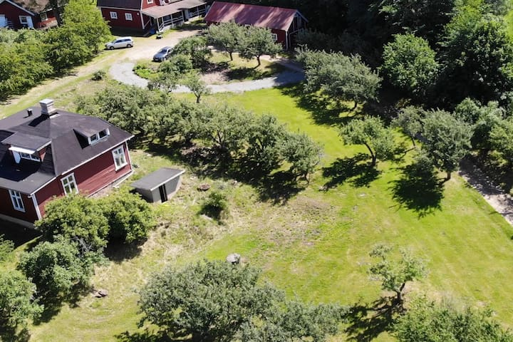 Idyllic and peaceful housing on a fruitfarm