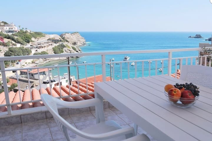 Amazing view Villa Aliki 300 metres from the beach