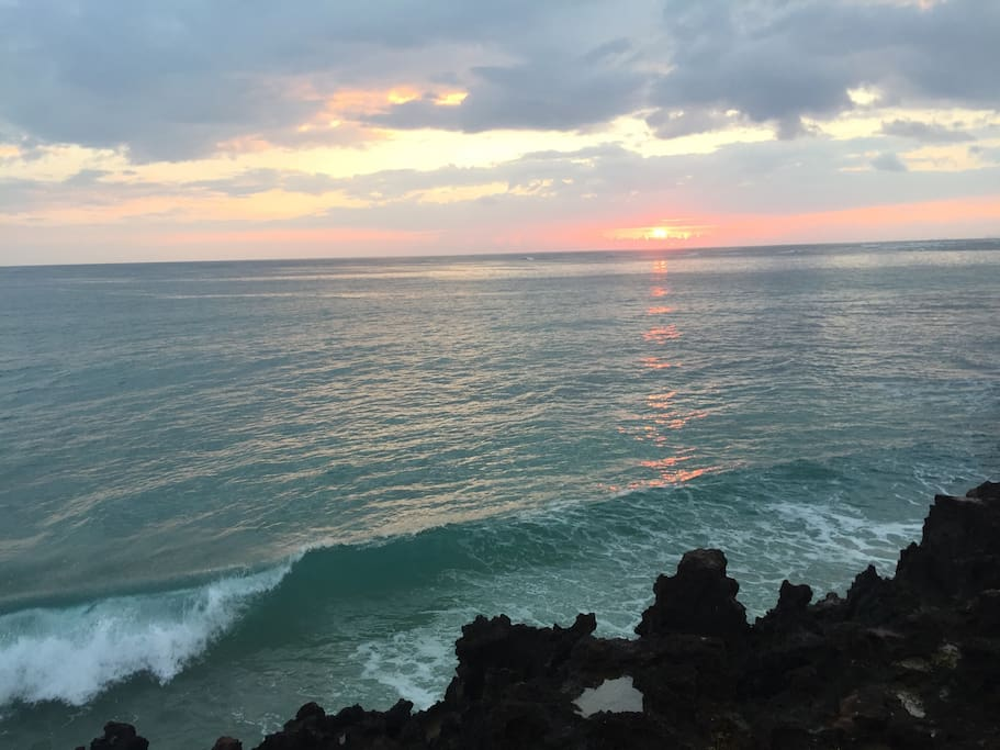 There is nothing more beautiful than the sunrise from Pounders Rock. You are right across the street from one of the most beautiful locations on the island.