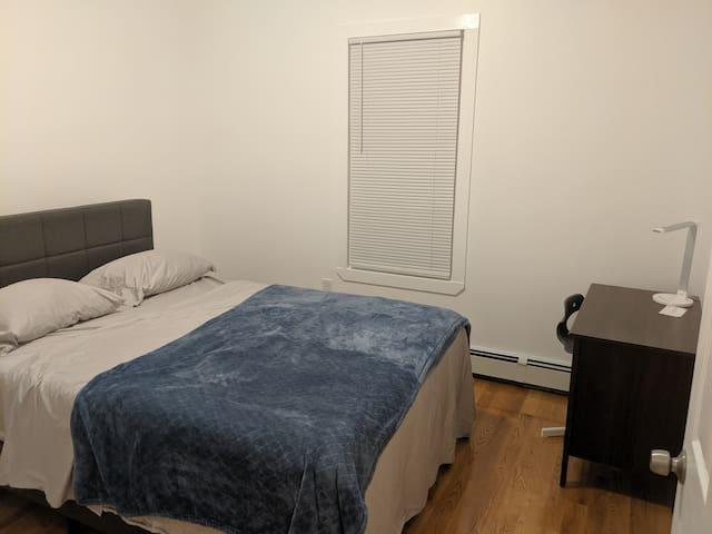 """New queen bed in each bedroom (with 12"""" memory foam mattress)"""