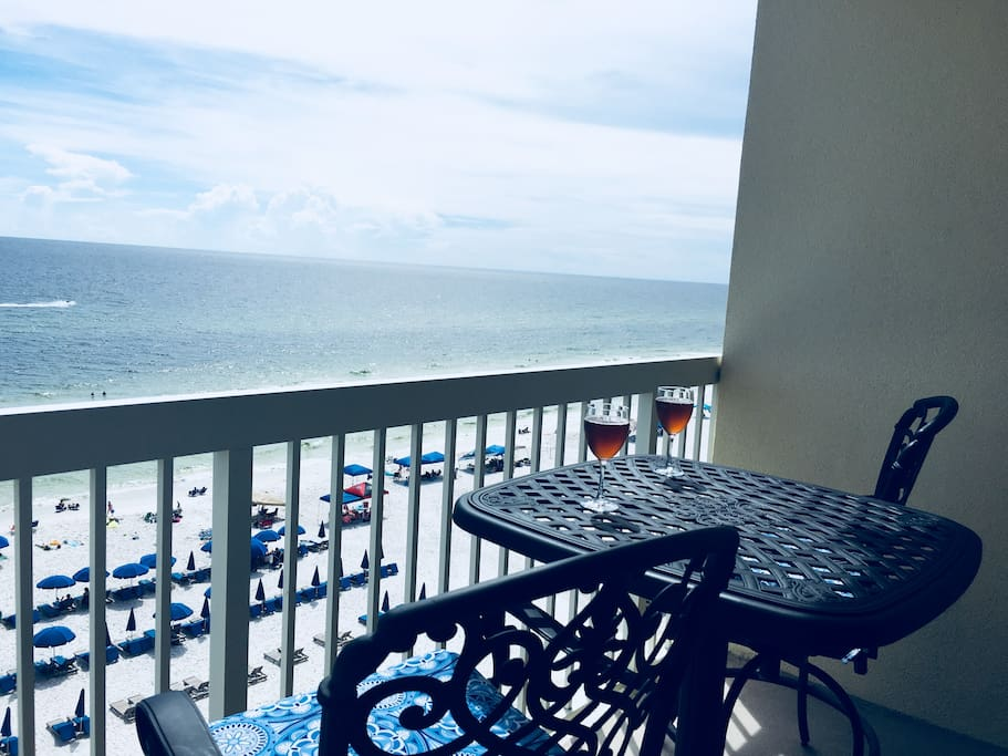 Enjoy mornings or evenings sitting out on the balcony!