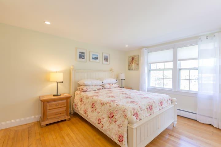 Bed #1: Master bedroom with queen bed on first floor