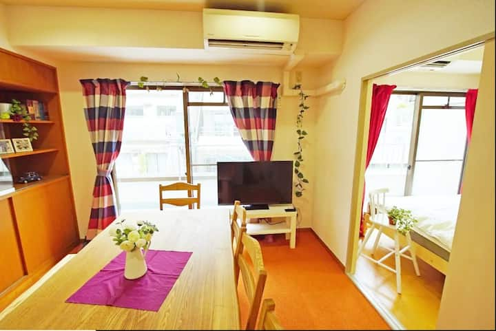 A) 4min walk Ikebukuro/ 8BED/78 sqm/ Free wifi