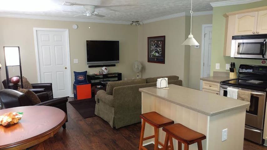 Auburn Univ On-Campus Game Day or Visitation Condo