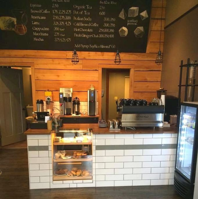 QED Coffee & Repast Cafe - right up the street