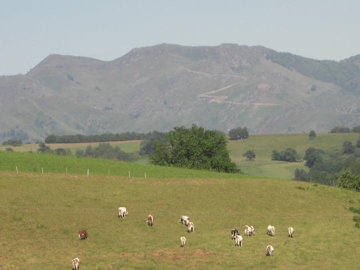gite, 2 pers, vue sur les montagnes