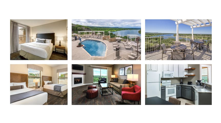 5★ LAKEVIEW Luxury Condo~POOL~Slps 8~Marble Falls