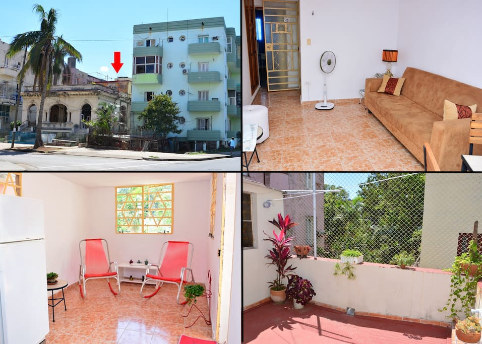 Very spacious 100% private apartment with terrace in Vedado