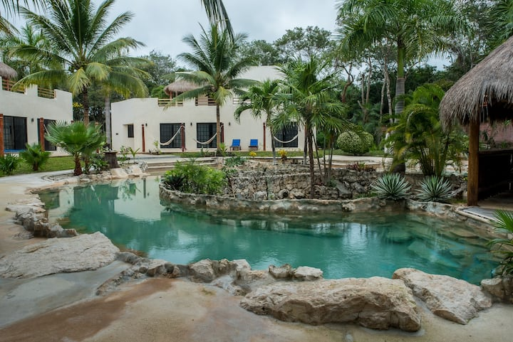 AMAZING 2-Villa Private Estate w/ Pool + Cenote!