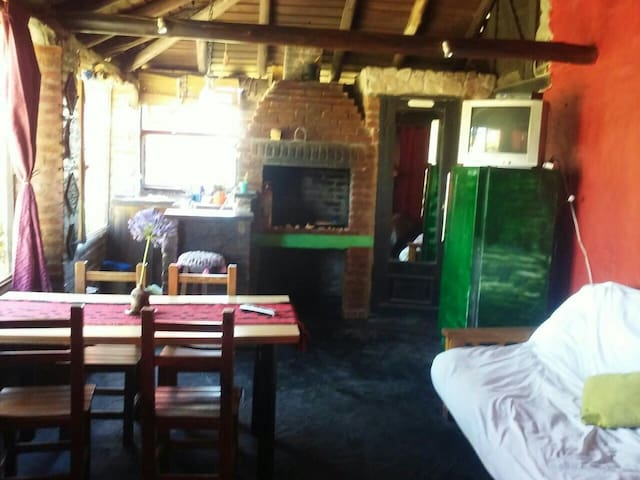 Cabaña mono ambiente frente al mar - Camet Norte - Casa