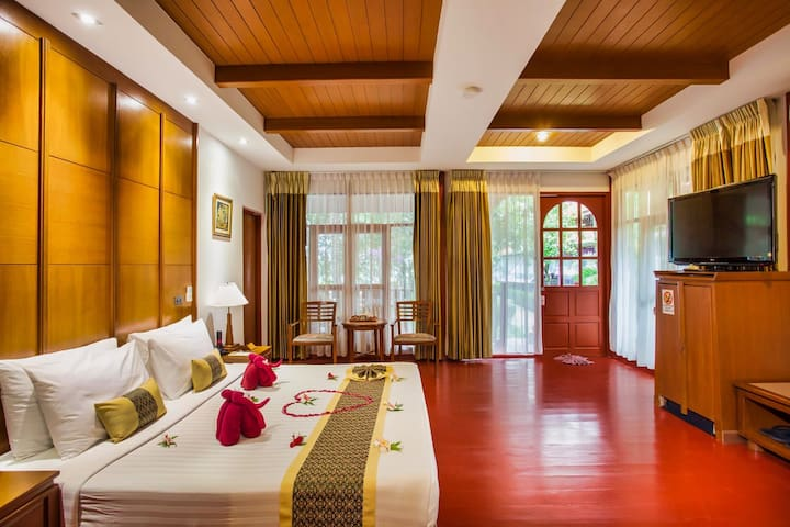 comfortable interiors with wooden floors and elegant furnishings.