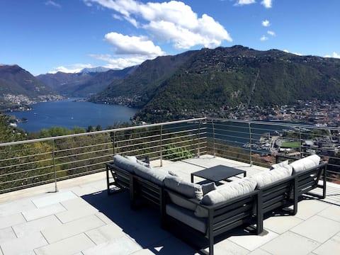 Villa Cardano Como-Penthouse, Stunning View