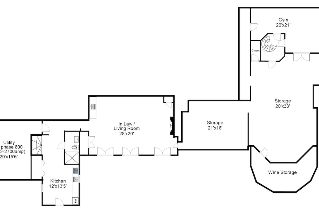 Use of private entrance, kitchen, bathroom, In Law living room. Not storage or Utility.