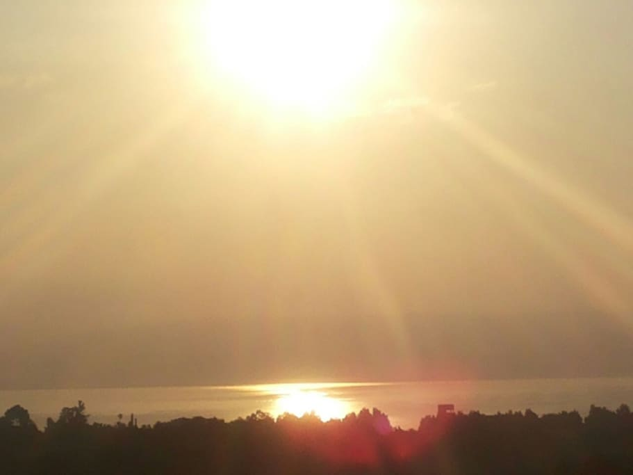 Sun rise from the wide front balcony