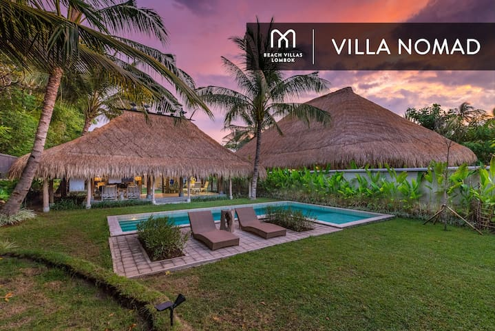VILLA NOMAD: Exclusive BEACHFRONT Villa with Pool