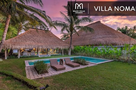 VILLA NOMAD: Exclusive BEACHFRONT Villa with Pool