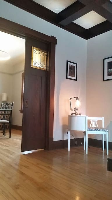 Upon entering the house when you look to the left you will see the entrance to the dining room.