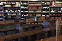 The Local Market is right next to Capriccio's Coffee. It has a great selection of wines and delicious lunches.