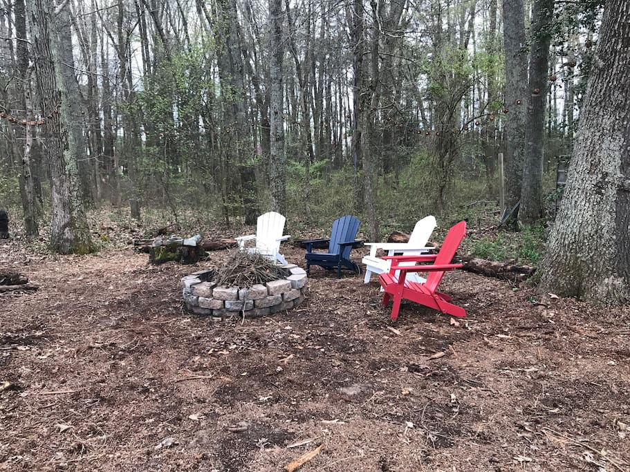 New for 2018 Backyard fire pit