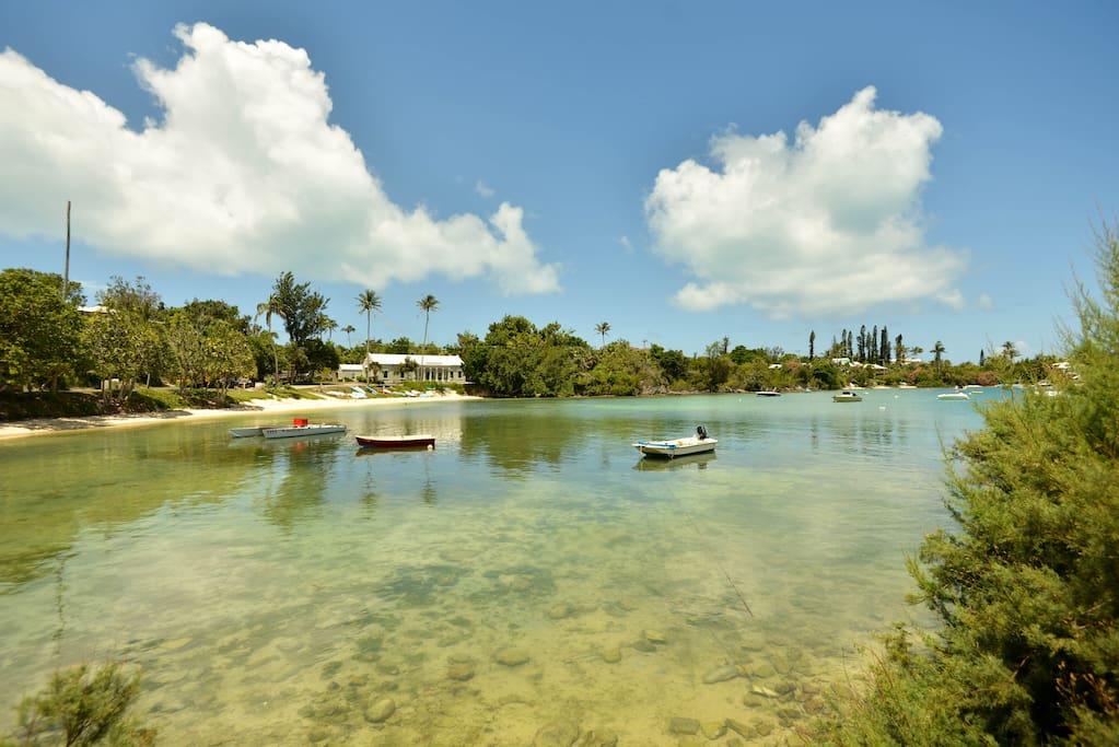 View across Mangrove Bay