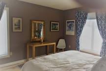Restful, shaded bedroom