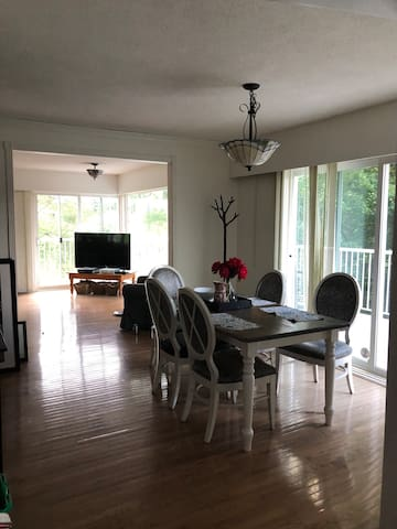 Dining + Living room space