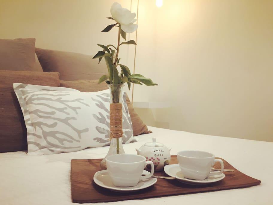 Habitación de invitados( té o café de bienvenida)
