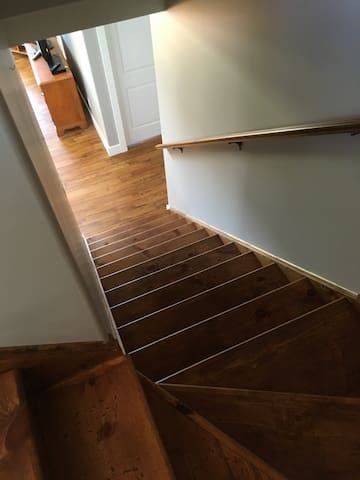 Stairs to dining room