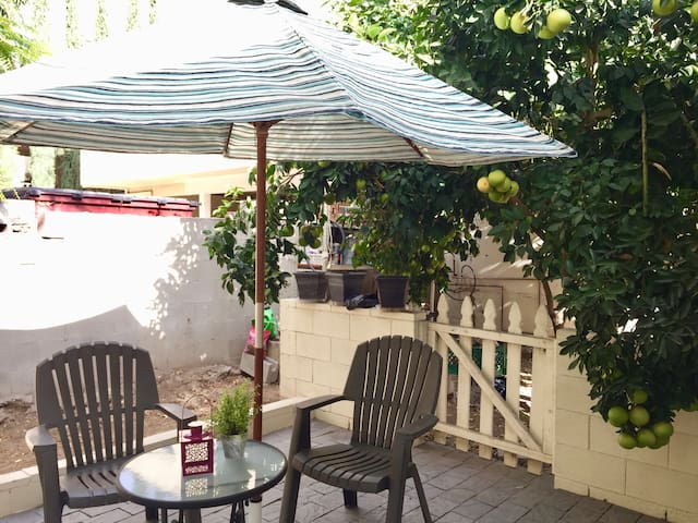Patio. Enjoy a fresh grapefruit or two from the tree!
