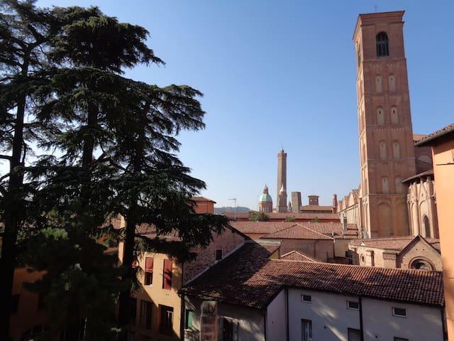 Panoramic Loggia in Medieval City