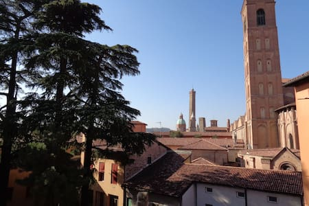 Panoramic Loggia in Medieval City