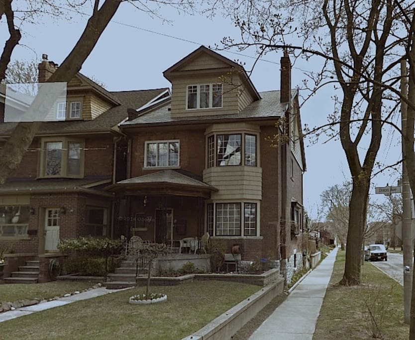 Lovingly restored century home on a corner lot with boulevard.