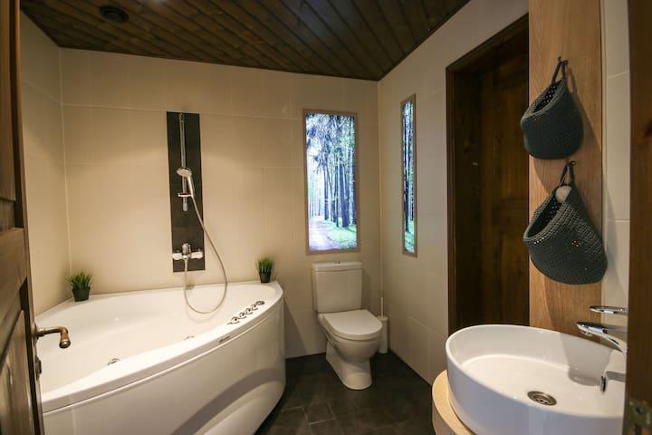 Bathroom with the hot tub